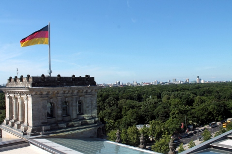 Una delle quattro torri del Reichstag