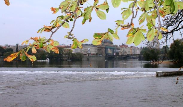 Praga - vista dall'Isola di Kampa